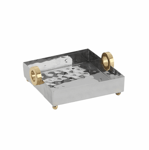Dessau Home Gold Ring Lunch Tray