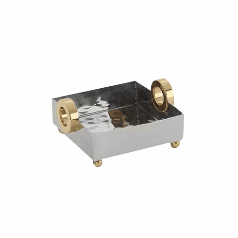 Dessau Home Gold Ring Nickel Cocktail Tray