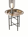 Dessau Home Iron Bamboo Stand for Round or Octagonal Tray (Tray Sold Separately) Home Decor