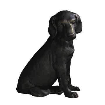 Dessau Home Labrador Pup Bronze Iron Dog Sculpture Home Decor