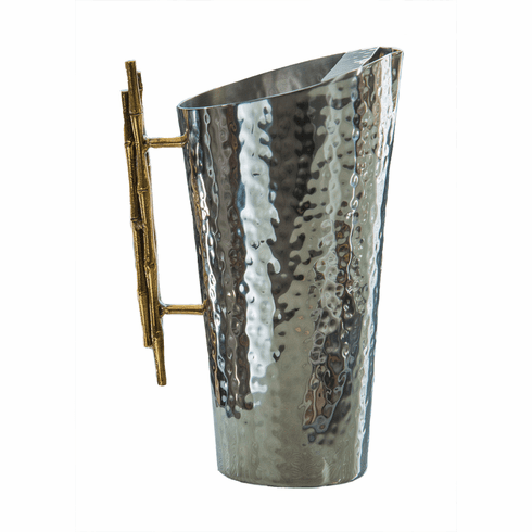 Dessau Home Nickel And Gold Bamboo Pitcher Home Decor