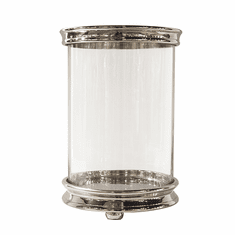 Dessau Home Nickel Cylinder Hurricane Home Decor
