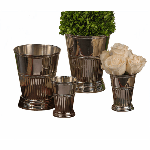 Dessau Home Nickel Fluted Mint Julep Cup Home Decor