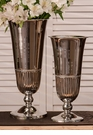 Dessau Home Nickel Fluted Vase Home Decor