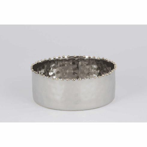 Dessau Home Nickel & Gold Bead Bottle Coaster