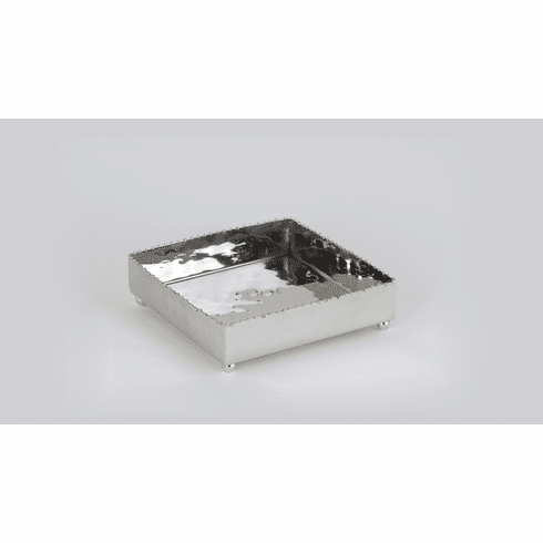 Dessau Home Nickel & Gold Bead Cocktail Tray