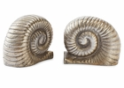 Dessau Home Nickel Snail Bookends Home Decor