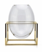 Dessau Home Oval Vase with Titanium Gold Base