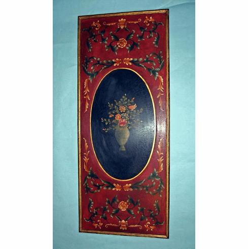 Dessau Home Red Floral Wall Art