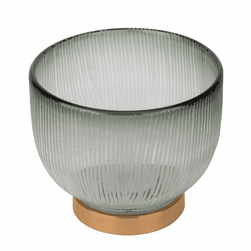 Dessau Home Round Bowl with Champagne Gold Base