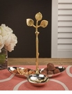 Dessau Home Silver & Brass Grape Leaf 3 Part Server Home Decor