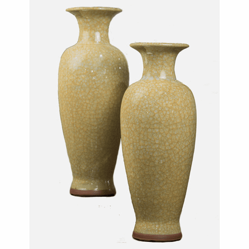 Dessau Home Yellow Imperial Vase Home Decor