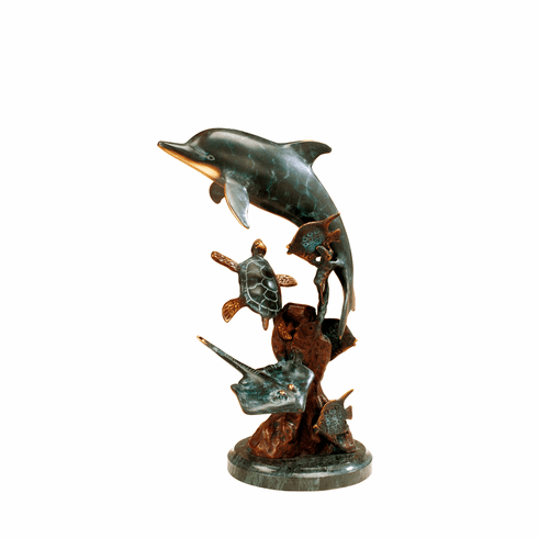 Dolphin and Undersea Friends Sculpture by SPI Home