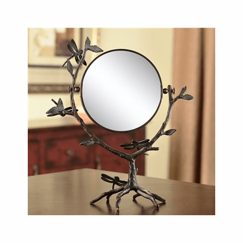 Dragonfly on Branch Mirror by SPI Home