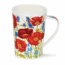 Dunoon Argyll Meadow Poppies Red Mug