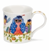 Dunoon Bute Wise Owls Blue Owl Mug (10 oz)