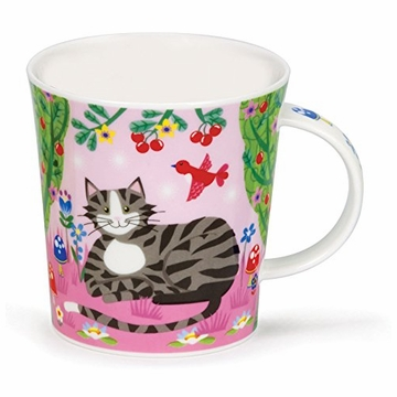 Dunoon Lomond Catkins Tabby Grey Cat Mug  (10.8 Oz)