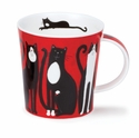 Dunoon Lomond Lucky Cats Black and White Mug