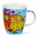 Dunoon Nevis Owls Light Blue Mug (16.2 oz)