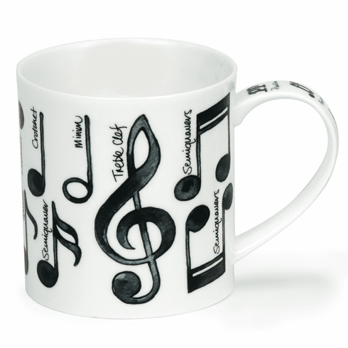 Dunoon Orkney Music Notes Mug