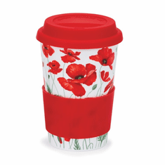 Dunoon Travel Mug Poppies - Red