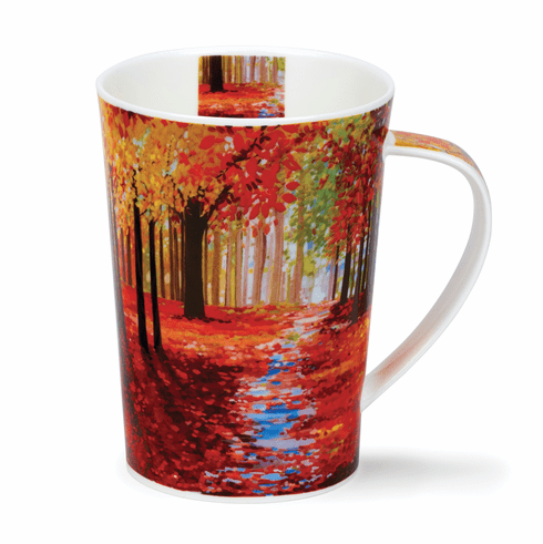 Dunoon Woodland Path Red Mug