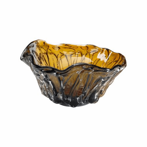 Duo Art Amber Glass Bowl by Cyan Design