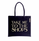 Emma Bridgewater Black Jute Take Me to the Shops Tote