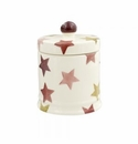 Emma Bridgewater Pink & Gold Stars Small Lidded Candle Boxed