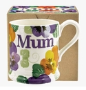 Emma Bridgewater Purple Pansy Mum 1/2 Pint Mug Boxed