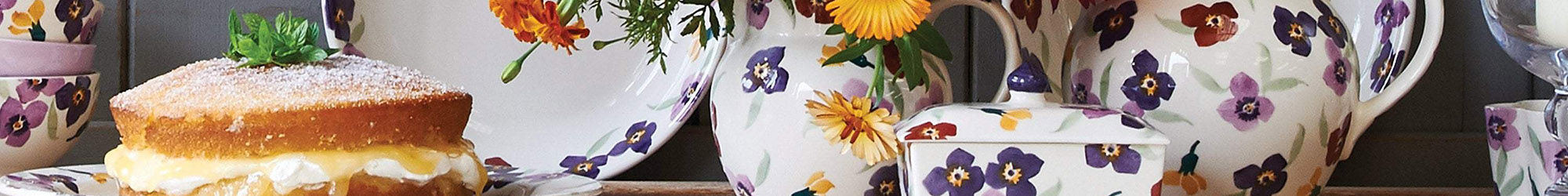 Emma Bridgewater Wallflower, Pansy & Anemone Floral Collection