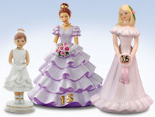 Enesco Growing Up Girls Birthday Girl Figurines