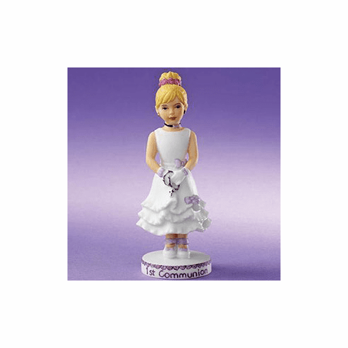 Enesco Growing Up Girls Blonde First Communion Figurine