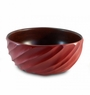 Enrico Mango Wood Chili Pepper Red Spiral Salad Bowl