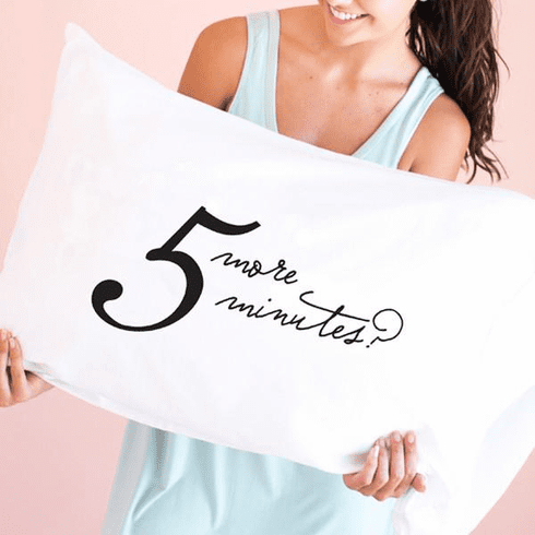 Faceplant 5 More Minutes Standard Pillow Case
