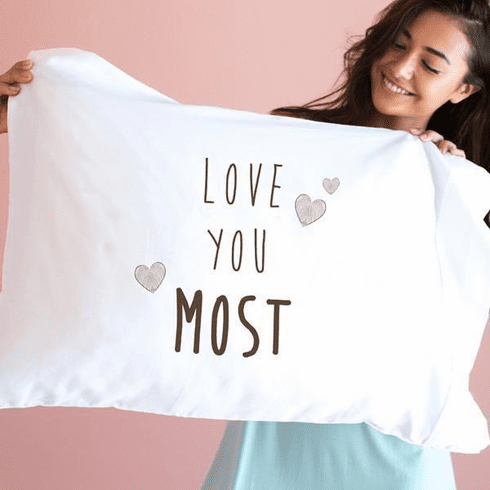 Faceplant Love You Most Standard Pillow Case