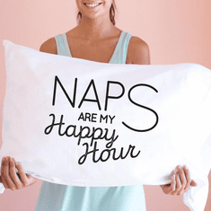 Faceplant Naps Are My Happy Hour Standard Pillow Case