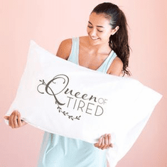 Faceplant Queen Of Tired Standard Pillow Case
