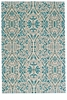"""Feizy Keats Turquoise 2'-2"""" x 4' Rug"""