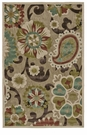 "Feizy Lucka Tan & Brown 2'-1"" X 4' Rug"