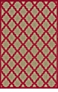 "Feizy Raphia I Tan & Red 5' X 7'-6"" Rug"