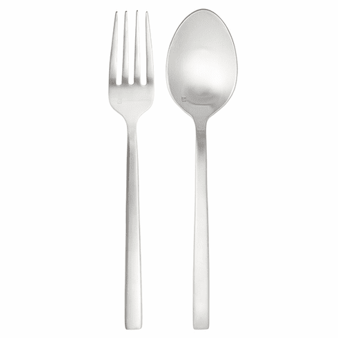 Fortessa Flatware Stainless Arezzo Brushed 2pc Serve Set Boxed