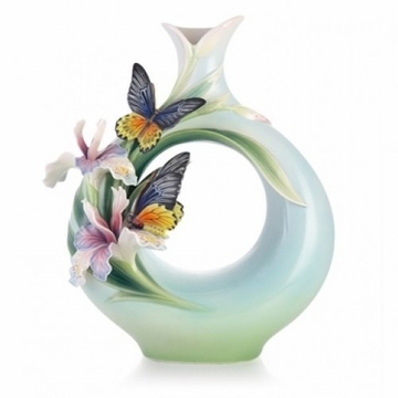 Franz Collection Birdwing Butterfly Limited Edition Vase