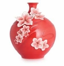 Franz Collection Blushing Peach Vase
