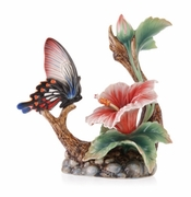 Franz Collection Butterfly Hibiscus Figure