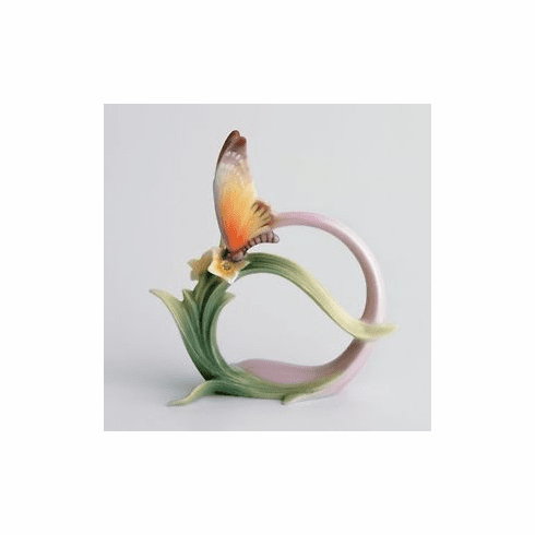 Franz Collection Butterfly Napkin Rings Set of 4