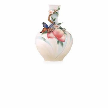 Franz Collection Butterfly & Peach Limited Edition Vase