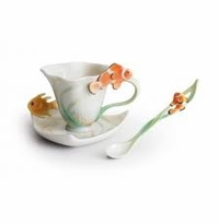 Franz Collection By The Sea Cup Saucer and Spoon Set