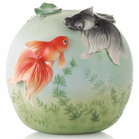 Franz Collection Goldfish Vase