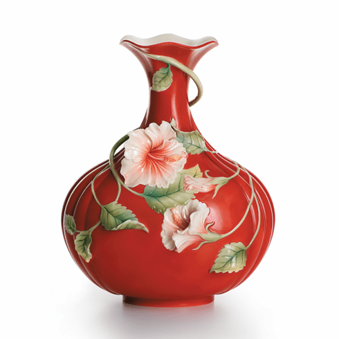 """Franz Collection Hibiscus """"Island Beauty"""" Vase"""